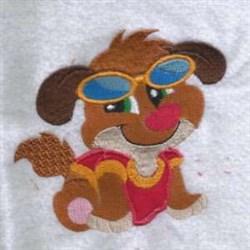 Sunglasses Dog embroidery design