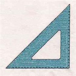 School Triangle Edge embroidery design