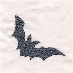 Black Bat Halloween embroidery design