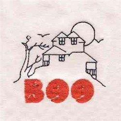 House Boo embroidery design