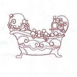 Bathtub Bonnet Girl embroidery design
