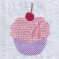 Ribbon Cupcake embroidery design