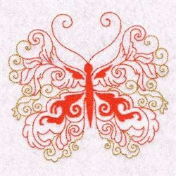 Swirl Beautiful Butterfly embroidery design