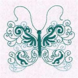 Butterfly Swirl Beauty embroidery design