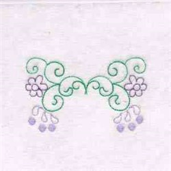 Floral Swirls Border embroidery design