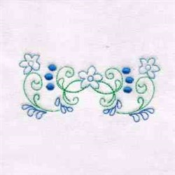 Floral Swirl Border embroidery design