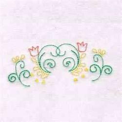 Border Flower Swirl embroidery design