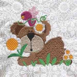 Bear Bird embroidery design