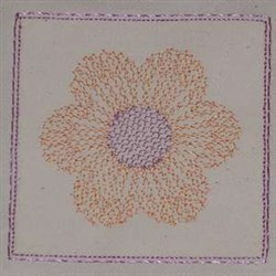 Flower Square Top embroidery design