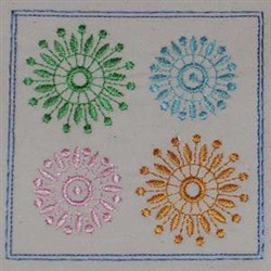 Top Flowers embroidery design