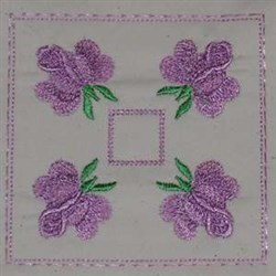 Top Florals embroidery design