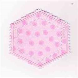 Hexagon Banner embroidery design