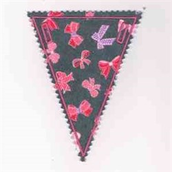 Bow Pennant embroidery design