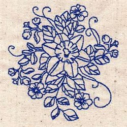 Bluework Blooms embroidery design