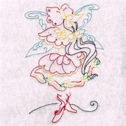 Bonnet Floral Fairy embroidery design