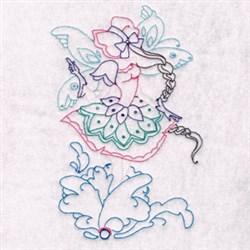 Bonnet Fairy Floral embroidery design