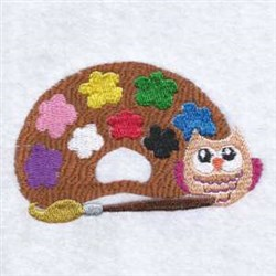 Paint Owl embroidery design