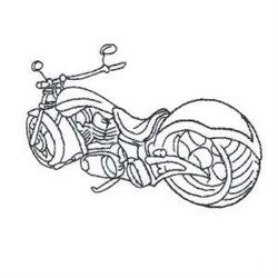 Outline Motorcycle embroidery design