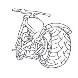 Outline Chopper embroidery design