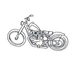 Chopper Outline embroidery design
