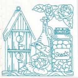 Seeds Bird House embroidery design