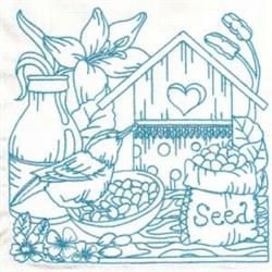 Birdhouse Seeds embroidery design