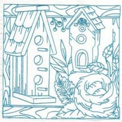 Birdhouses Nest embroidery design