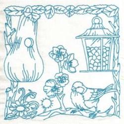 Gourd Bird Feeder embroidery design