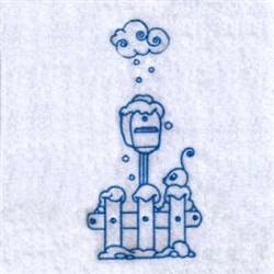 Winter Mailbox embroidery design