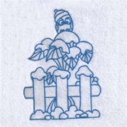 Winter Fence embroidery design