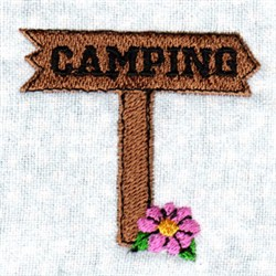 Camping Sign embroidery design