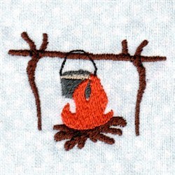 Camping Cooking embroidery design