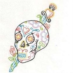Sword Skull embroidery design