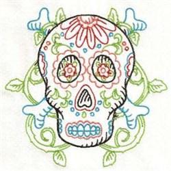 Cross Bones Skull embroidery design