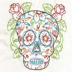 Skull Blossoms embroidery design