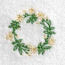 Canning Lid Flowers embroidery design