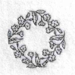Canning Lid Blossoms embroidery design