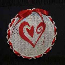 Sun Catcher Heart embroidery design