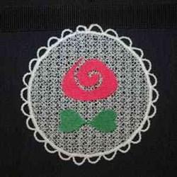 Sun Catcher Flower embroidery design