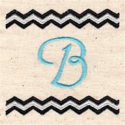 Chevron B embroidery design