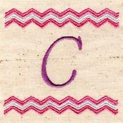 Chevron C embroidery design