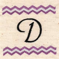 Chevron D embroidery design