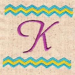 Chevron K embroidery design