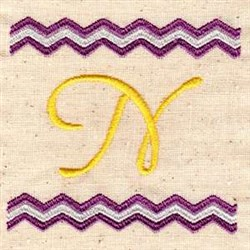 Chevron N embroidery design