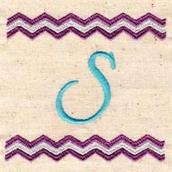 Chevron S embroidery design