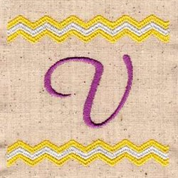 Chevron U embroidery design