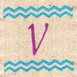 Chevron V embroidery design