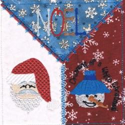 Santa Square embroidery design