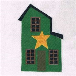 Christmas Star House embroidery design