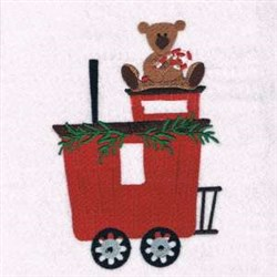 Teddy Train embroidery design